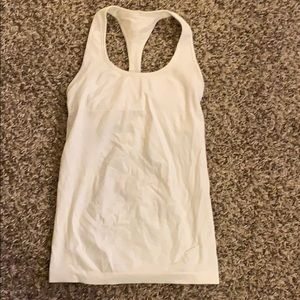 Cream LULULEMON compression Swift Tank Top Size 6